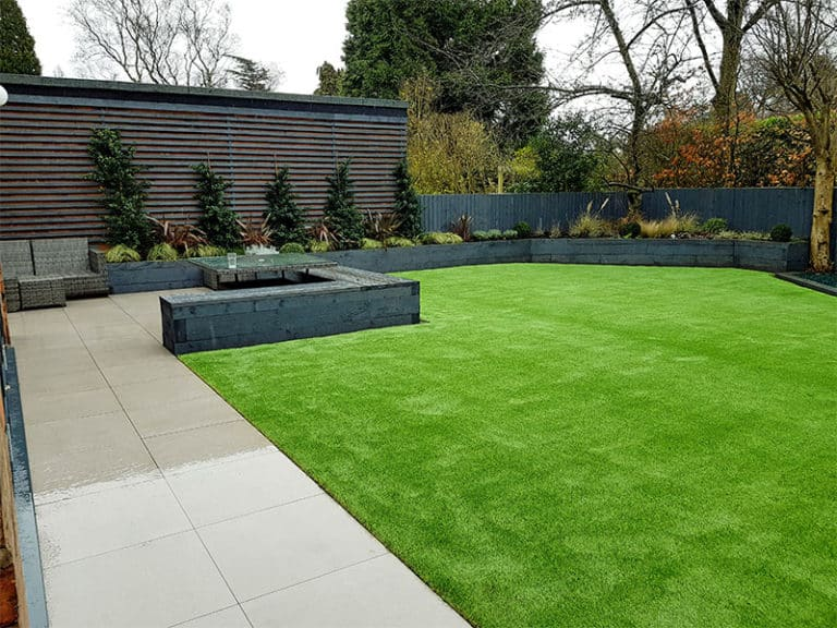 Artificial lawn in Alderley Edge