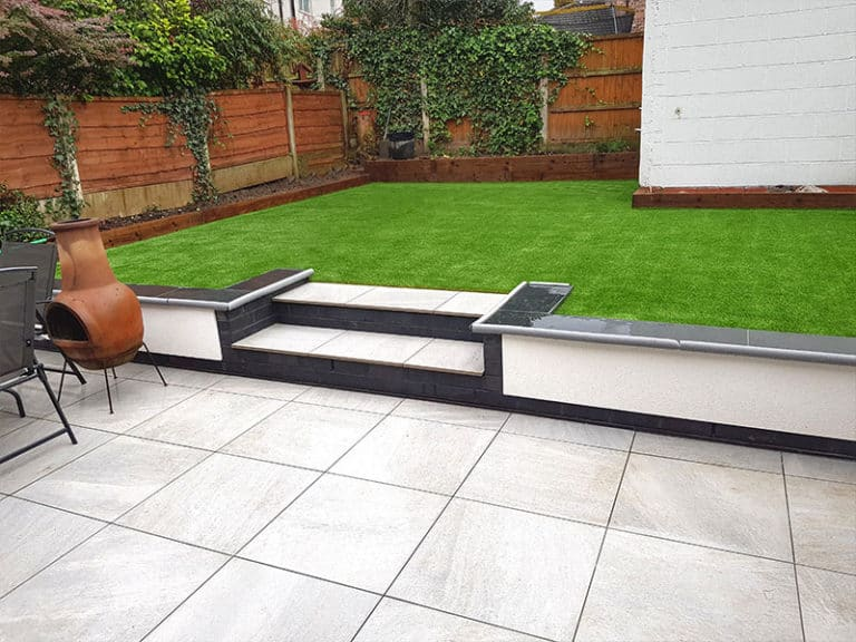 Artificial lawn & Patio in Bolton