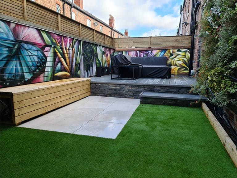 Artificial urban lawn in Chorlton